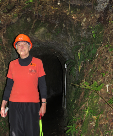 Enthusiastic volunteer: Philippa Larkindale outside the Morning Star gold mine.