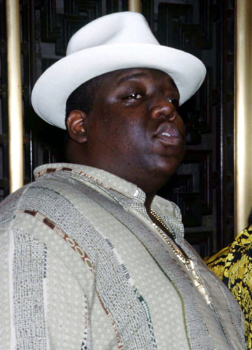 GONE: Rapper Notorious B.I.G. arriving at the MTV Video Music Awards in 1995.