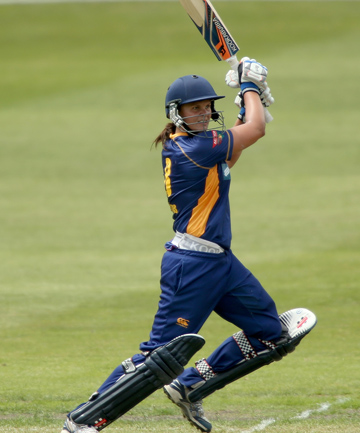 LEADING BY EXAMPLE: Suzie Bates on her way to 160 not out for Otago.