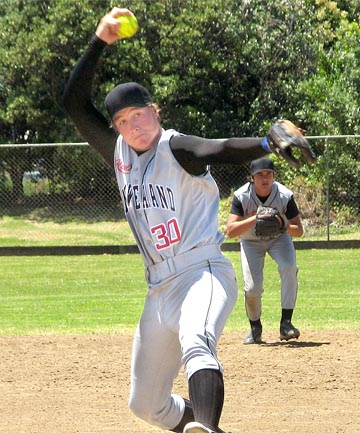 WINDING UP: Hutt Valley pitcher Nik Hayes has been selected in the Black Sox for the world championships.