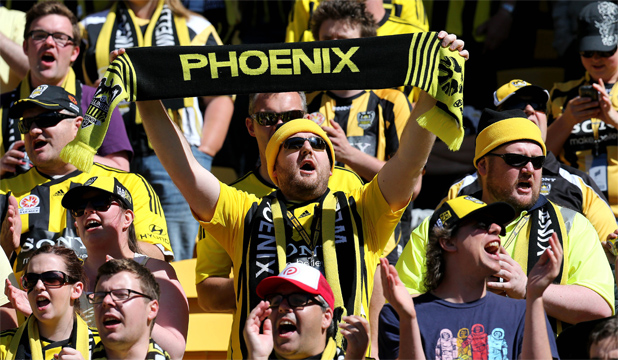 HARD CORE: 7375 fans who turned out to watch the Phoenix lose to Sydney.