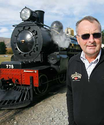 The Kingston Flyer and owner David Bryce