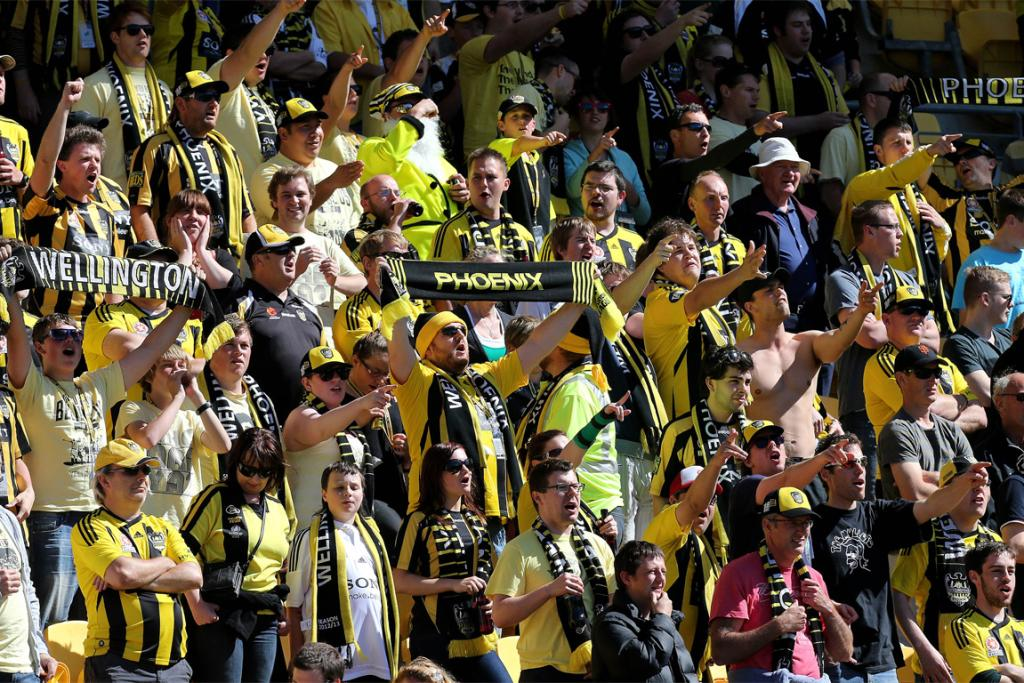 Phoenix fans show their support during the game against Sydney.
