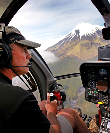 Heliview owner Richard Foale wants aircraft restrictions in the Egmont National Park to be changed to allow them to land on the Pouakai Ranges