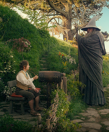 TO BE EXPECTED: Martin Freeman and Sir Ian McKellan as Bilbo Baggins and Gandalf the Gray in The Hobbit: An Unexpected Journey.