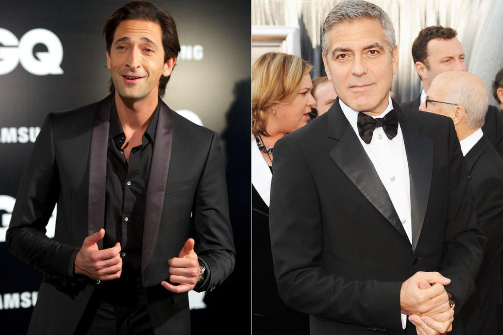 Who has the better bod - lean Adrien Brody or George Clooney?