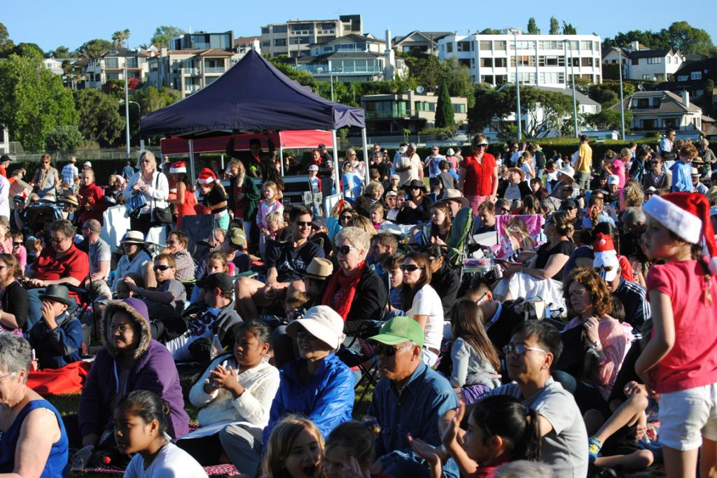 COMMUNITY CAROLS: A large crowd turned out for the free Community Carols on the Green event in St Heliers on Sunday.