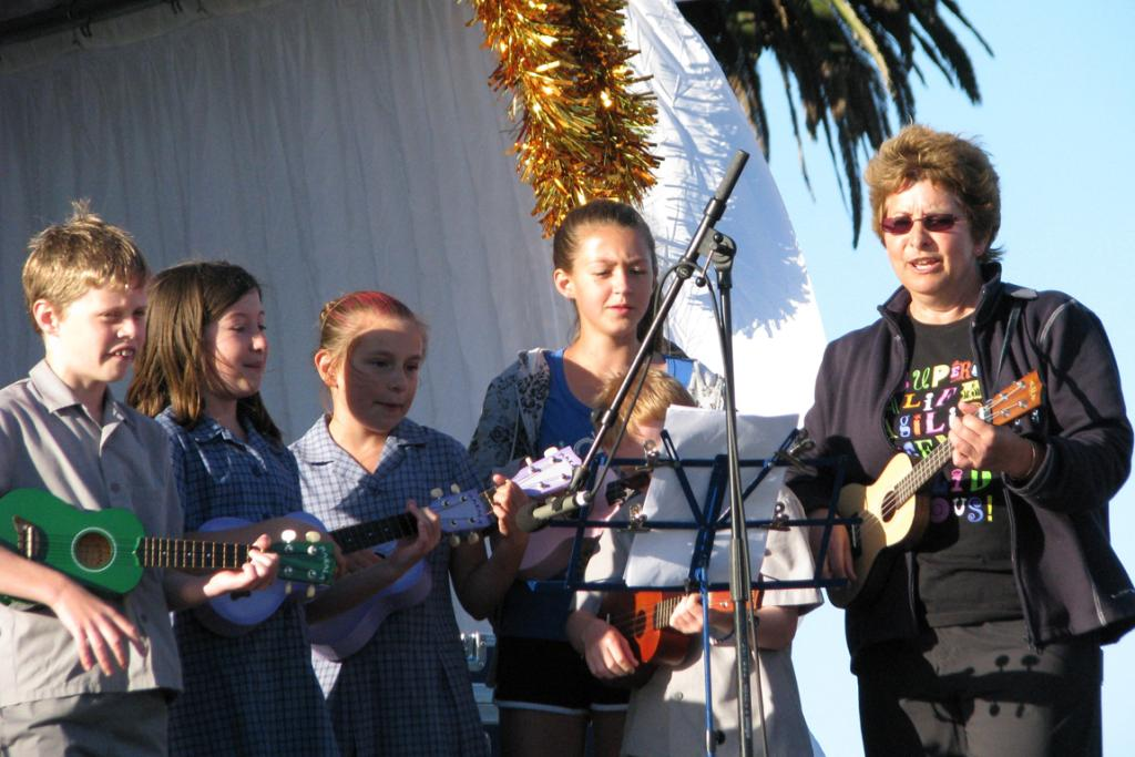 UKULELE: A group of young musicians from St Joseph's school.