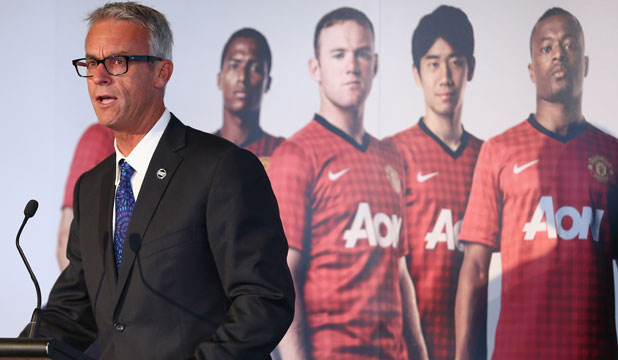 FFA chief executive David Gallop announces Manchester United is heading to Australia for the first time in 14 years.