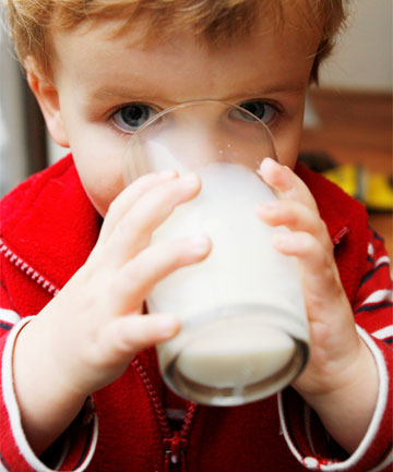 GOOD FOR THE BONES: Ciaran Harper enjoys a glass of milk.