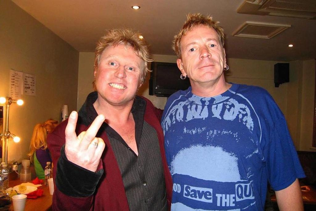 Steve Andrews with Johnny Rotten.