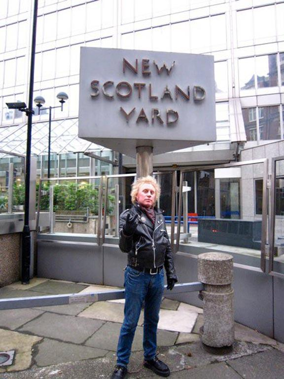 Outside Scotland Yard in 2011.