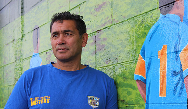 LOOKING FORWARD: Chairman Dean Kini sees a future for Mt Wellington Rugby League Club despite the recent arson attack.
