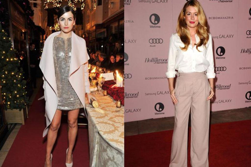 Camille Belle, left, and Cat Deeley show how to wear champagne shades in style.