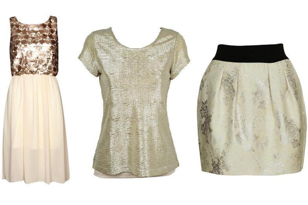 Boohoo.com  dress, $60; Ignite top, $39.99 from Farmers; Cotton On skirt, $39.95.
