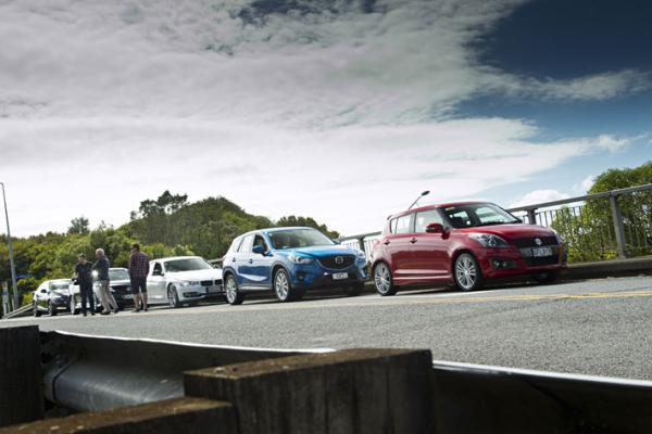 Road testing the six finalists for the AMI Insurance NZ Autocar Car of the Year.