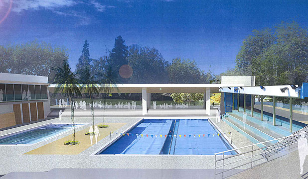 Design concept for upgrading Hamilton's Municipal Pool