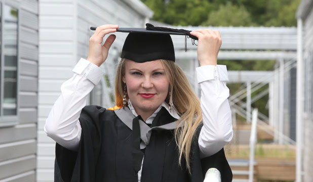 LATE STARTER: Faith Jeremiah, who started school when she was 16, will graduate from the University of Canterbury today.
