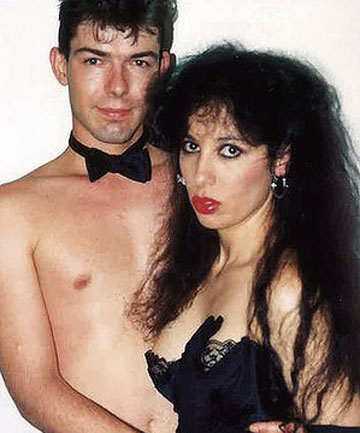 "KEEPING IT CLEAN: Nikki Stern with husband Paul Van Eyk for the ""Horny Housewife"" video series in 1990."