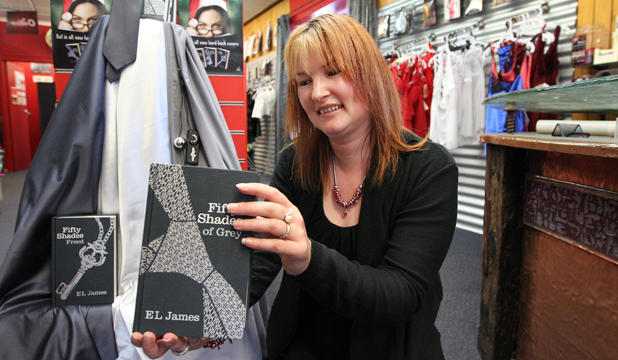 SALES SPINNER: Sinderellas Adult Shop director Vanessa Scull.