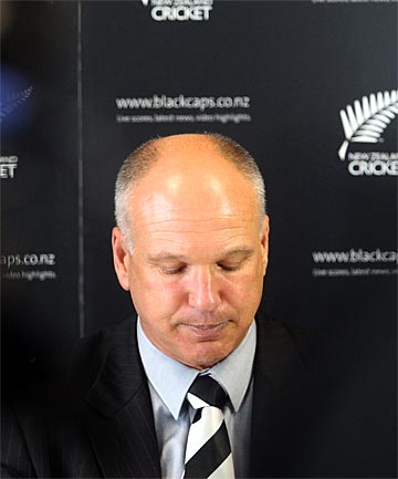 TRAIN WRECK: NZ Cricket CEO David White fronts up to media to explain the process that resulted in the sacking of Ross Taylor.