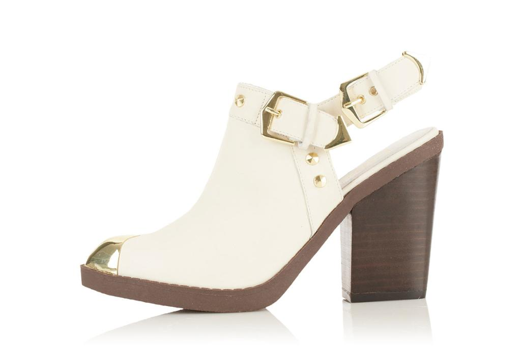 """Sling-back booties, $130 from Topshop.com. """"I can't wait to start wearing these once the heat of summer cools. Until then they'll be sitting on my dresser to be admired."""""""