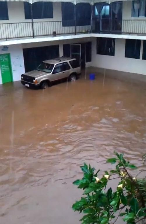Flooding in the Samoan capital, Apia.