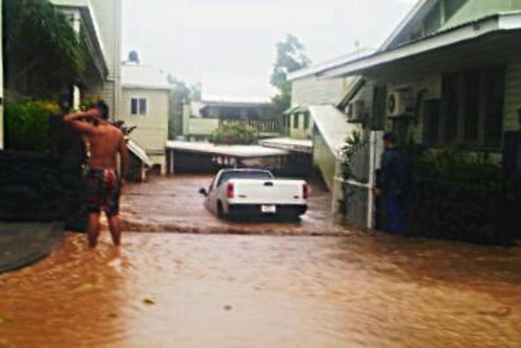 Flooding during Cyclone Evan.