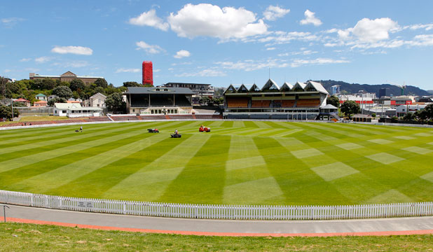 The Basin Reserve outfield renovations are complete on time for the venue's first cricket match of the summer.