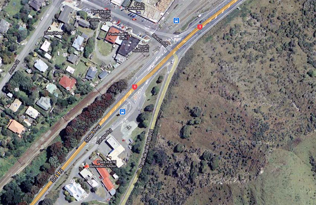 CHANGES: The intersection of State Highway 1 and Paekakariki Hill Rd.