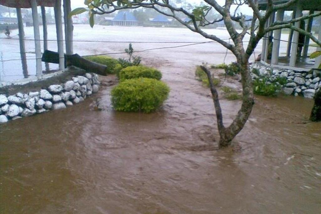 Flooding in Lepea, on the island of Upolu.