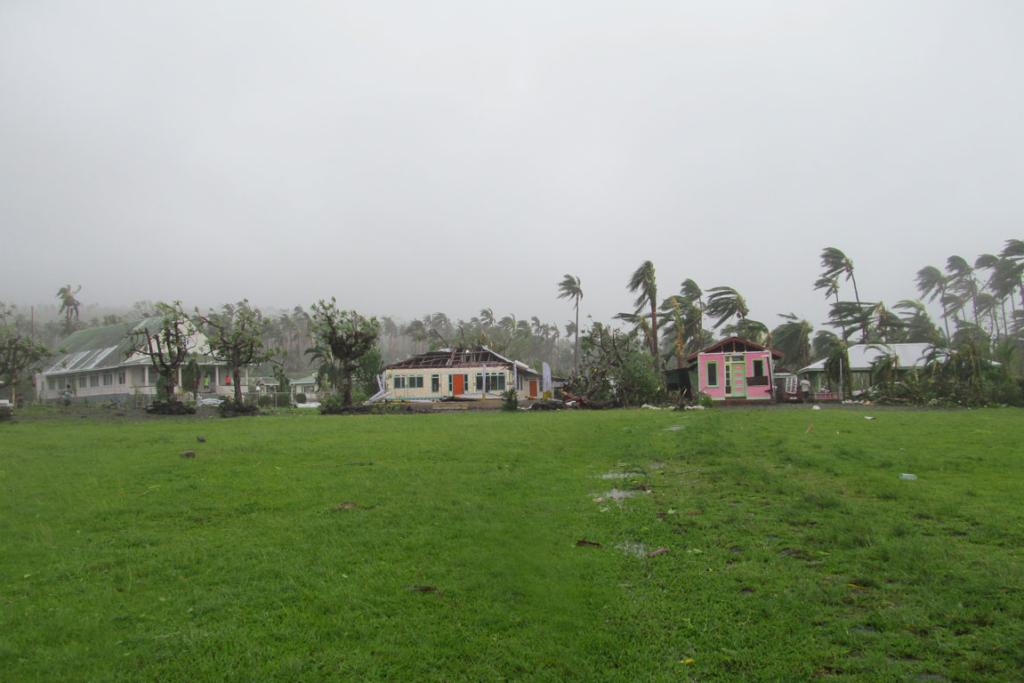 Damage in the from Cyclone Evan in the Samoan capital Apia.