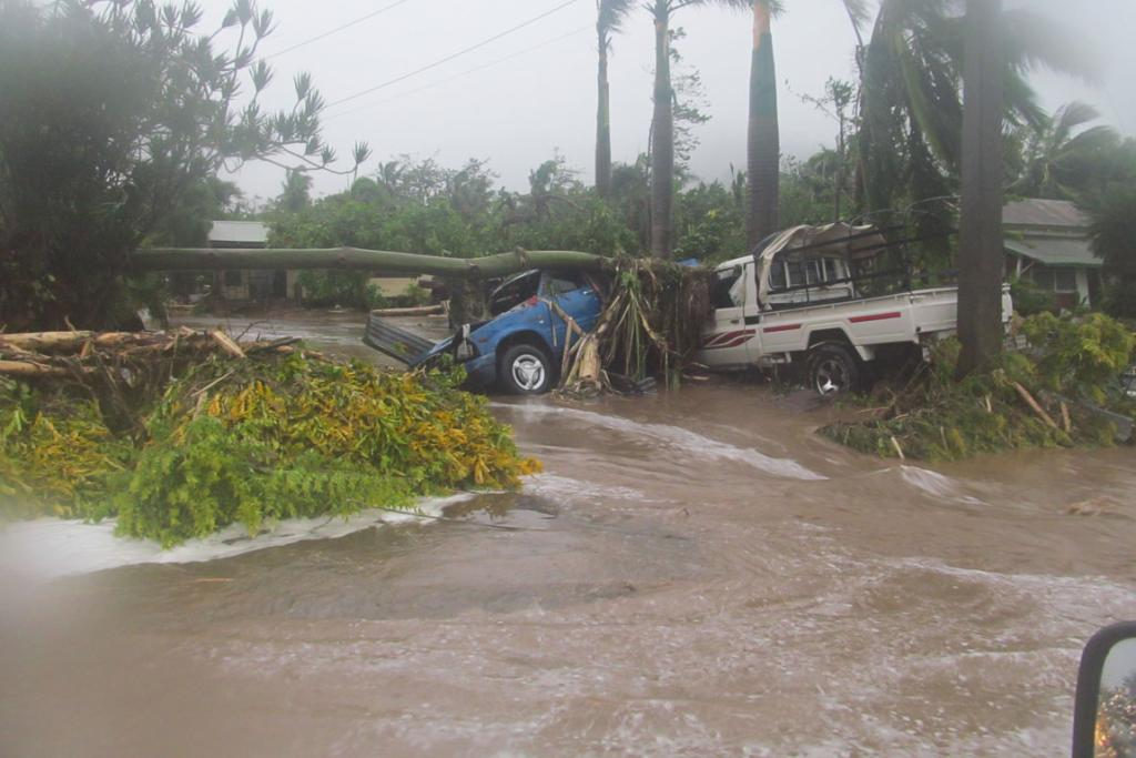 Damage from Cyclone Evan in the Samoan capital Apia.
