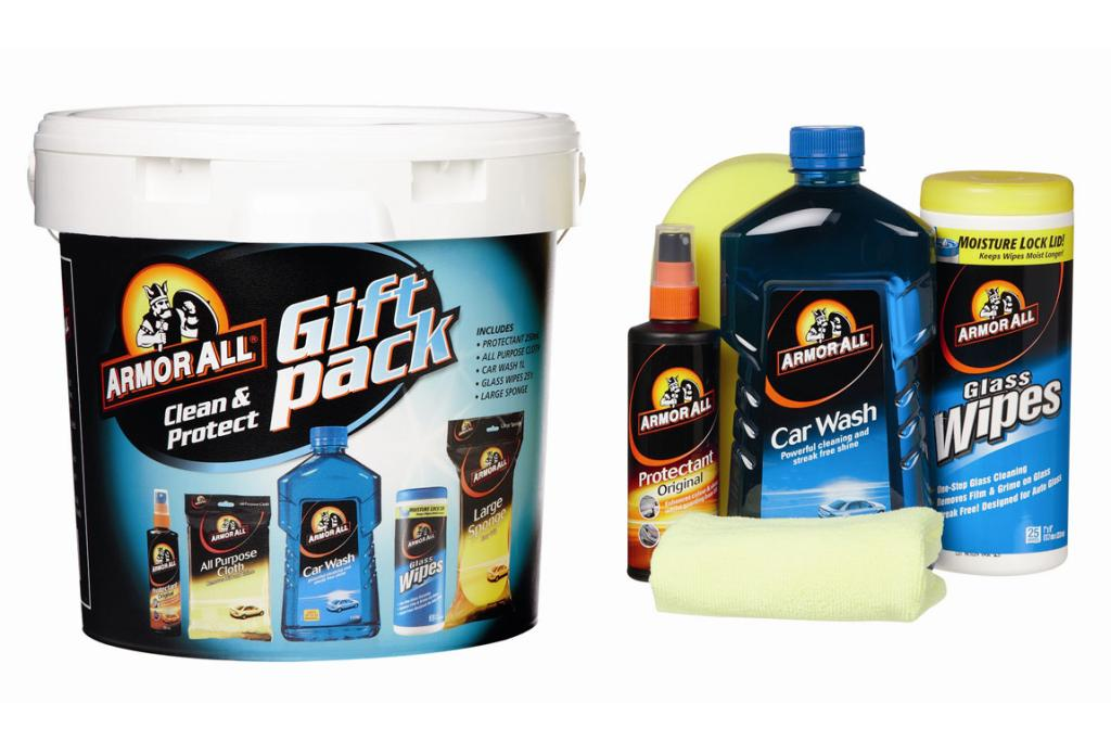 CAR WASH: Grandad will love this car wash gift pack. $39.99. The Warehouse.