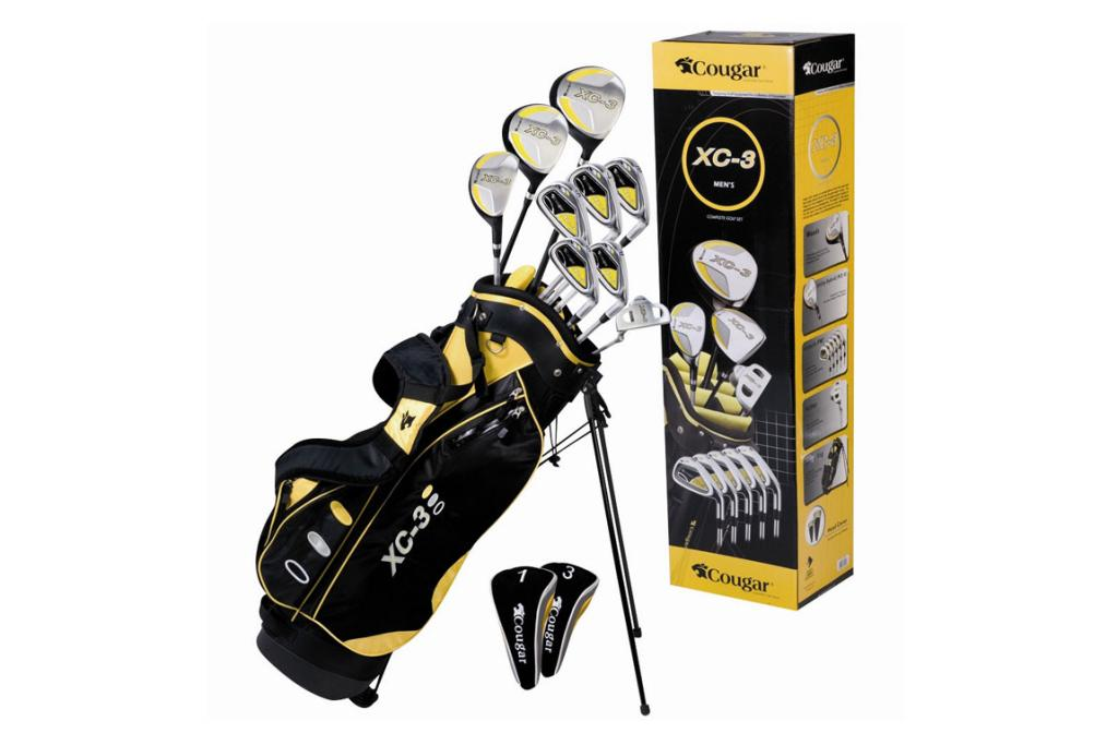 GOLF GAME:Grandad will love to hit the greens with this golf club set. $299.99. Whitcoulls.