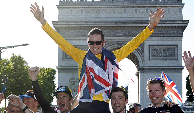 KING OF THE ROAD: Bradley Wiggins