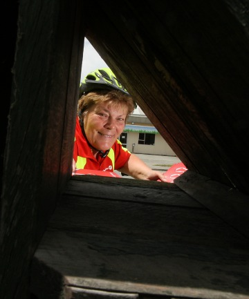STILL DELIVERING: Washdyke's Val Hogan celebrates 30 years as a postie.