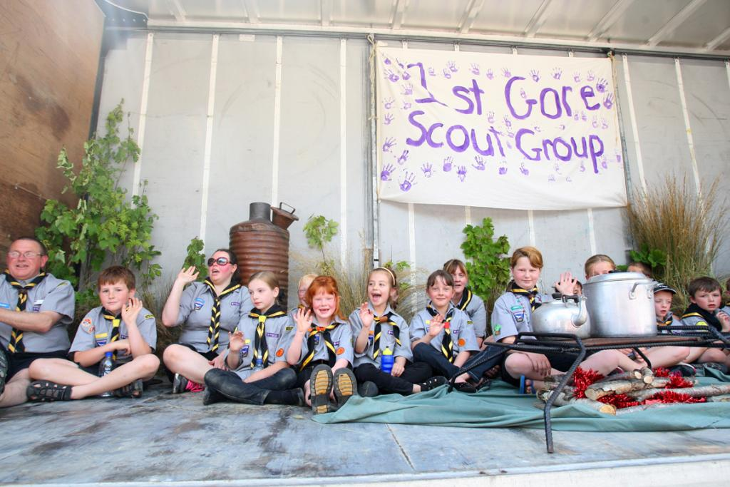 The 1st Gore Scout Group float in the Gore Santa Parade 2012.