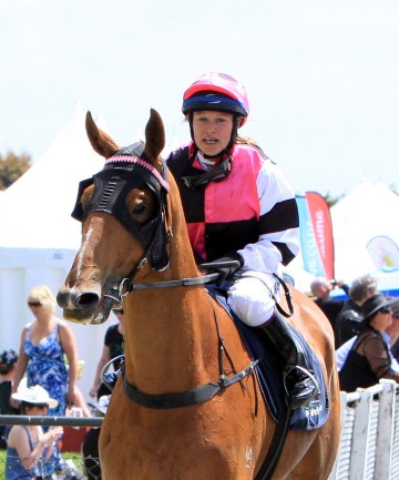 FINE FORM: Rebecca Black aboard Peter Parrot after winning at Ascot Park on Saturday.