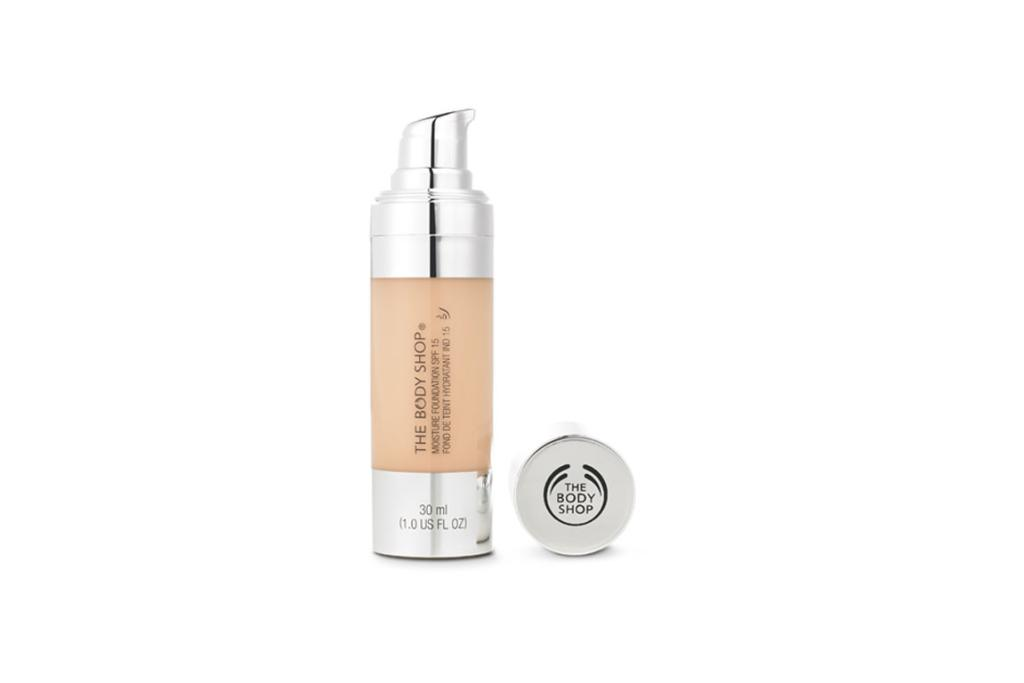 The Body Shop Moisture Foundation SPF15, $40. If you're after a little more coverage than a tinted moisturiser, this is a great option. It's still lightweight enough for summer, but can be layered up for those days you need more coverage. It leaves the skin with a healthy dewy finish and keeps it hydrated for up to 24 hours.