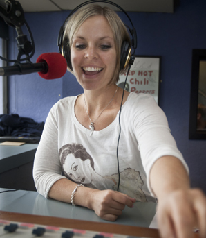 ON AIR: Anna Guy at work during the More FM breakfast show.