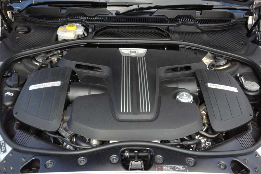 TWIN-TURBO V8: Makes better noises than the larger W12 and isn't far short in straight line performance.