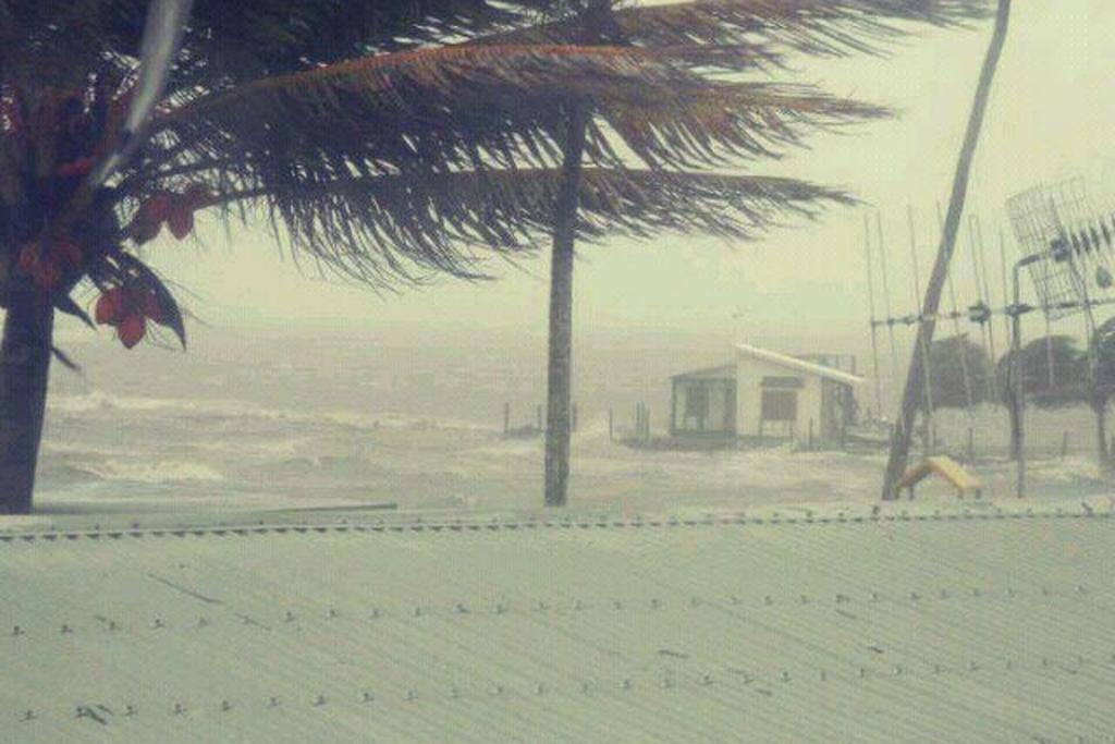 Suva point as Cyclone Evan starts making landfall in Fiji.