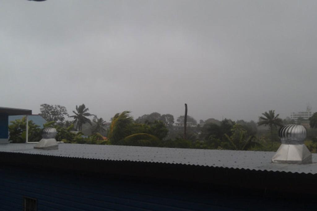 Cyclone Evan approaches.