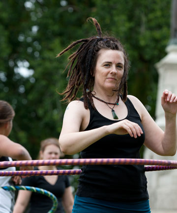 HOOPING: Event organiser Anne-Marie Emerson has been hooping for about nine months.
