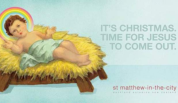 CONTROVERSIAL: The St Matthew in the City billboard.
