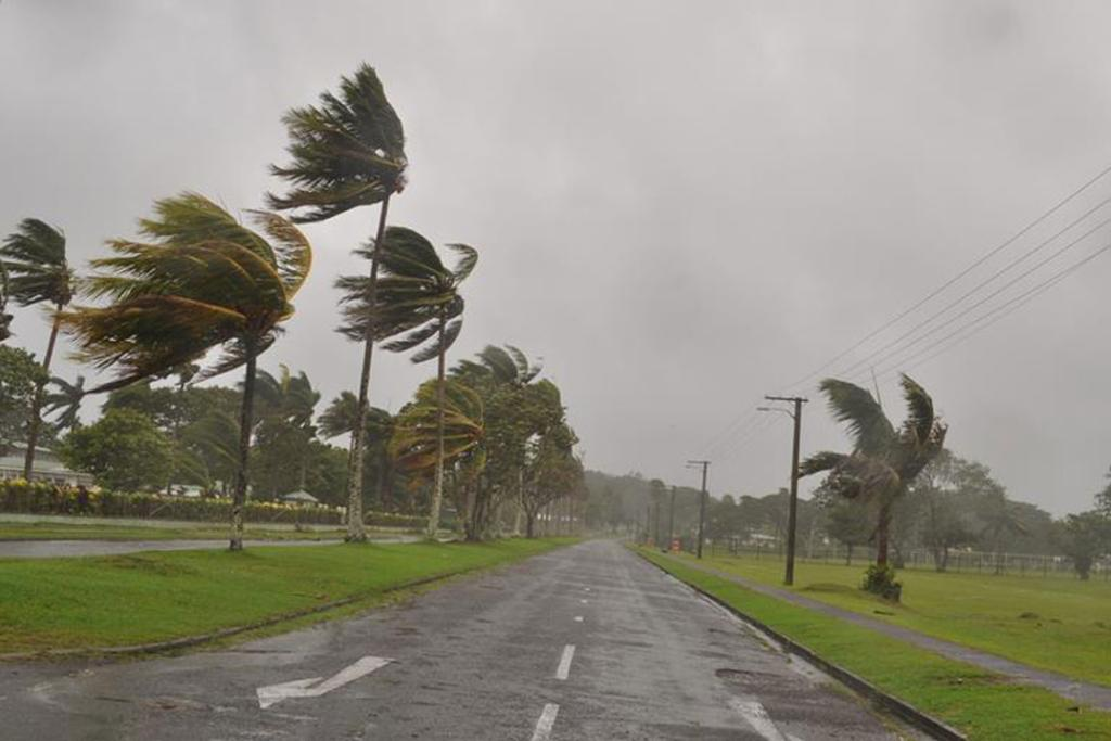 The only noise on the roads in Fiji is the howling of high winds.