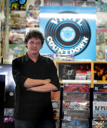 Owner of Vinyl Countdown Mark Thomas' collection is proving popular all over the world.