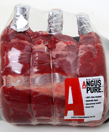 Party piece: NZ Angus Pure standing rib-eye steaks or roast