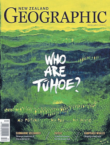 COVER: The latest New Zealand Geographic magazine.